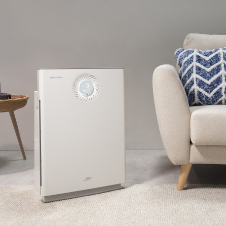 front-side-view-of-air-purifier-at-living-room-coway-lombok3